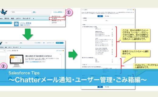 Salesforceのちょっと便利な使い方!~Chatterメール通知・ユーザー管理・ごみ箱編~