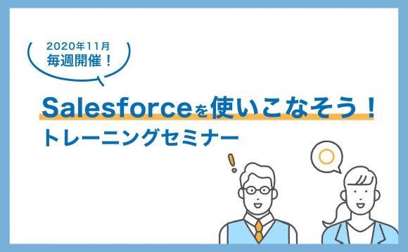 [WEBセミナー開催]11月 毎週開催!Salesforceを使いこなそう!トレーニングセミナー